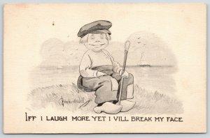 Bernhardt Wall Comic~If I Laugh More Yet I Will Break My Face~Dutch Boy~1912 PC
