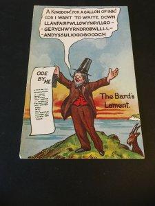Vintage  Postcard -The Bard's Lament