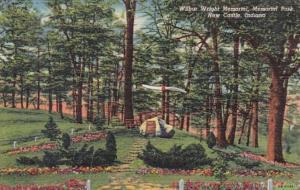Indiana New Castle Wilbur Wright Memorial In Memorial Park 1956 Curteich