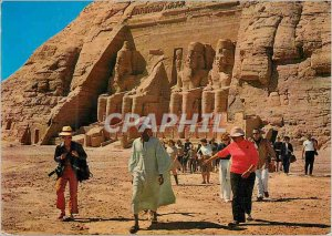 Modern Postcard The temple of Abu Simbel