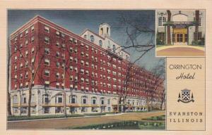 Illinois Evanston Orrington Hotel Curteich