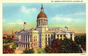 Georgia Atlanta Georgia State Capitol Building Curteich