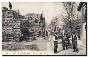 Postcard Old Mine Mining Company Charbonniers Site 43 and 45 Quai de Grenelle...