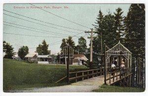 Bangor, Me, Entrance to Riverside Park