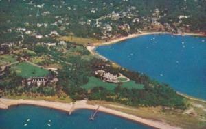 Massachusetts Cape Cod Aerial View Cotuit Harbor