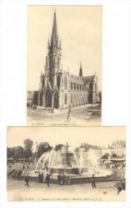 2 Cards, L´Eglise Saint Epvre, La Fontaine de la Place Carnot et Monument Sa...