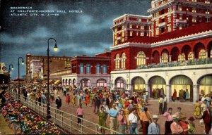 New Jersey Atlantic City Boardwalk At Chalfonte - Haddon Hall Hotels At Night
