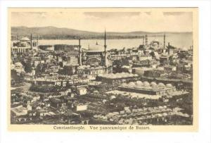 Constantinople. Vue panoramique de Bazars, 1910s Turkey