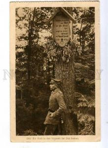 191437 WWI FRANCE grave Vosges w/ three ears Vintage postcard