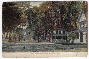Mansfield, Mass, Main Street looking north