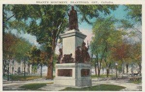 BRANTFORD , Ontario , 1910-20s; Brant's Memorial