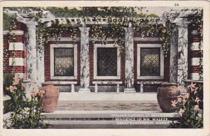 Italian Garden At Brookside Residence Of Wm Walker Great Barrington Massachus...