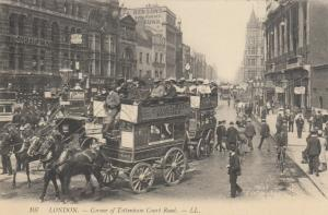 LONDON , England , 1900-10s ; Corner of Tottenham Court Road