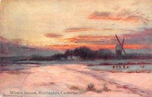 Winter Sunset, Harrington Canterbury United Kingdom, Great Britain, England W...