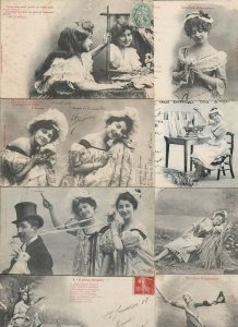 Cute French Fantasy Postcard Lot of 20  01.15
