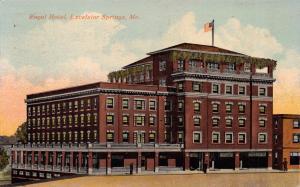 EXCELSIOR SPRINGS MISSOURI THE ROYAL HOTEL POSTCARD 1913 PSTMK