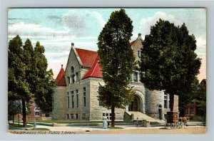 Kalamazoo MI-Michigan, Public Library, Vintage c1911 Postcard