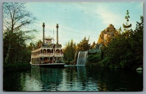 Postcard Anaheim CA c1968 Disneyland  Mark Twain Rivers of America DT-35919-C B