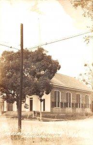Monticello Florida birds eye view Presbyterian Church real photo pc BB2534