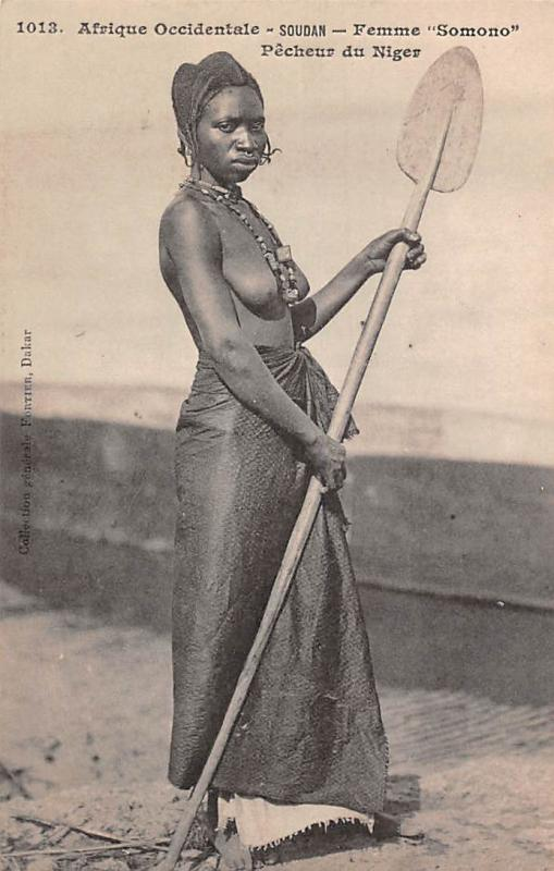 Sudanese Native, Soudan Femme Somono Pecheur du Niger, Fisherwoman