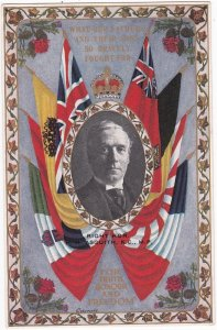 Right Hon. H.H. ASQUITH , K.C. , M.P. , and flags , 1918
