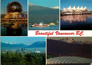 Beautiful Vancouver BC Canada Postcard used 1990