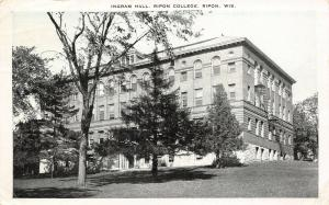 Ripon Wisconsin~Ripon College~Ingram Hall on Hilltop~Fire Escapes~1936 B&W PC