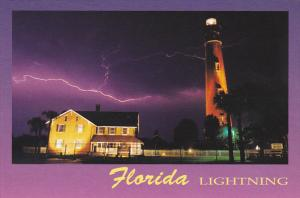 Florida Lightning with Ponce Inlet Lighthouse