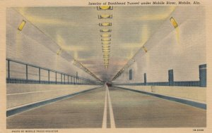 MOBILE , Alabama , 30-40s ;  Interior of Bankhead Tunnel under Mobile River