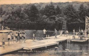 Richmond New Hampshire Camp Takodah YMCA Swimming Vintage Postcard JD933698