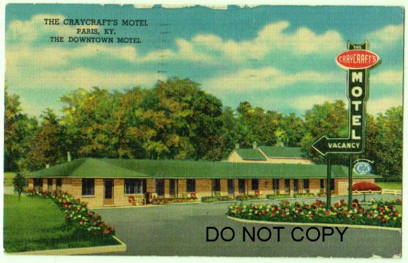 The Craycraft's Motel, Paris KY