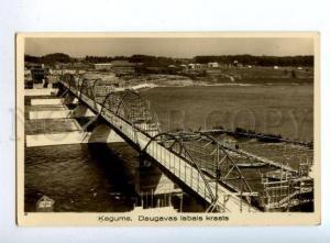 163548 Latvia KEGUMS Daugava BRIDGE Daugavas labais krasts OLD