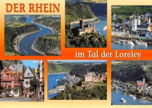 Der Rhein im Tal der Loreley Oberwesel St Goar Burg Katz Boppard Bacharach
