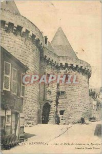 Old Postcard Hennebont Tower and Porte de Montfort Chateau