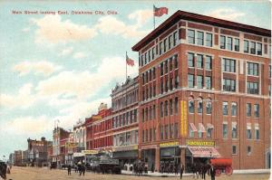 Oklahoma City Oklahoma Main Street Scene Historic Bldgs Antique Postcard K40291