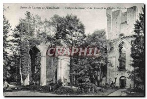 Postcard Ancient Ruins of the Abbey of Jumieges Remains of the Choir and tran...