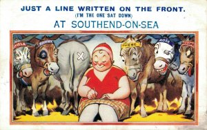 Just A Line Written On The Front Comic Vintage Postcard 06.40
