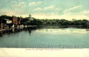 Crescent Park & Custom House Ogdensburg NY Unused