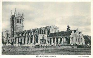 Postcard UK England Long Melford, Suffolk church tower