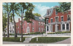 New Hampshire Concord St Mary's School Curteich