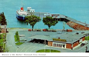 Canada Nova Scotia Yarmouth Ferry Terminal Bluenose At Bar Harbor