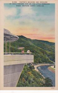 North Carolina TVA Fontana Dam On Tennessee River Visitor's Builing &...
