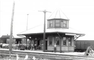 Ohio c1980 REPRINT Postcard Real Photo RPPC STRONGSVILLE Railroad DEPOT Station
