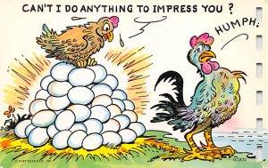 Chicken Post Card Chicken Comic Unused