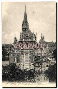 Old Postcard Caen Eglise Saint Pierre The apse