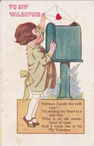 VALENTINE'S DAY, 1900-1910's; Girl Sending A Love Letters, To My Valentine