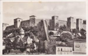 RP: LISBOA , Portugal , 1958 ; Um Pormenor do Castelo S. Jorge