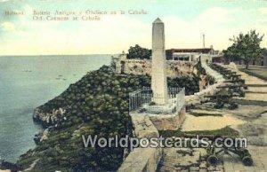 Bateria Antigua y Obelizco en la Cabana Habana Republic of Cuba Unused