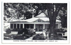 Norris Tourist Rooms, Jesup, GA Postcard *5Q16