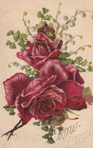 Red Roses and White Bell Lilies, 1900-10s